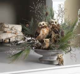 owl arrangement center pieces window and centerpieces