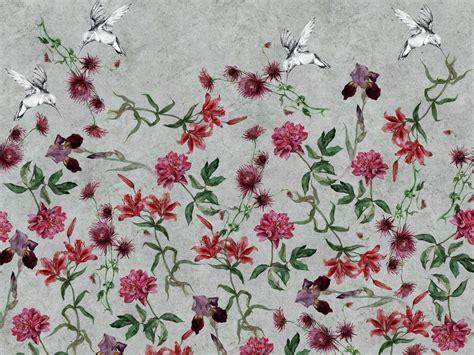 papier peint 224 fleur colibreeze by wall dec 242 design