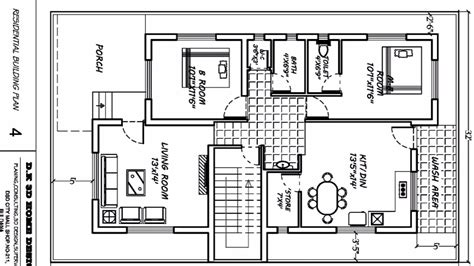 Home Plans With Dimensions  Youtube