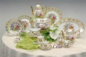Porzellan Geschirr Hersteller : tee oder kaffeeservice handbemalt in gold hersteller ~ Michelbontemps.com Haus und Dekorationen