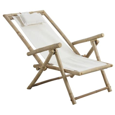 chaise bambou chaise relax pliante en bambou mcl1100 aubry gaspard