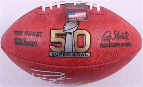 Peyton Manning Signed Official Nfl Super Bowl 50 Game Ball