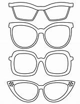 Coloring Sunglasses Template Pages sketch template