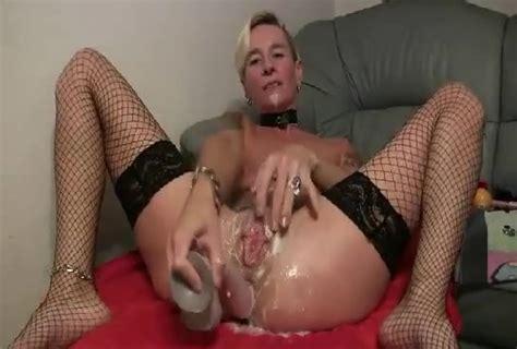 Skinny Blonde Milf Fucks Herself With A Huge Dildo