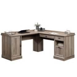 sauder barrister lane l shaped desk in salt oak walmart com