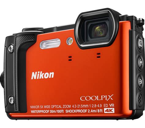 nikon coolpix compact buy nikon coolpix w300 tough compact orange