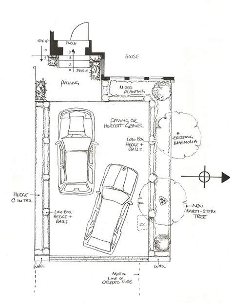 driveway layout design gravel york stone driveway lisa cox garden designs blog