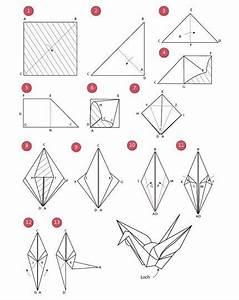 Origami Kranich Anleitung : faltanleitung origami kraniche f r die tischdekoration papier pinterest origami kranich ~ Frokenaadalensverden.com Haus und Dekorationen