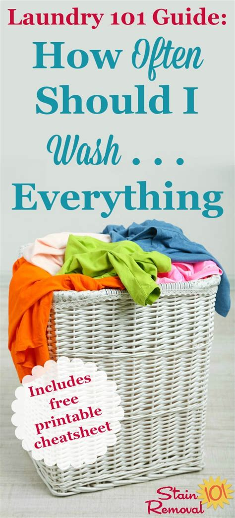 How Often Should I Wash    Everything? {printable Chart