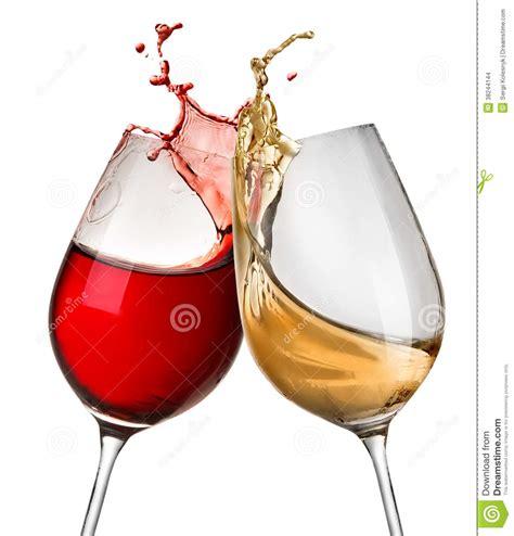 disegni di bicchieri spruzza di in due bicchieri di fotografia stock