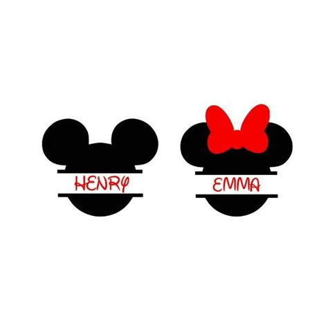 Mickey Monogram Svg Minnie Monogram Svg Minnie Mouse Svg