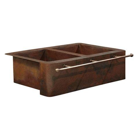 home depot copper bar sink sinkology bernini farmhouse apron front handmade