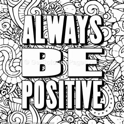 Coloring Pages Positive Quote Always Sheets Getcoloringpages