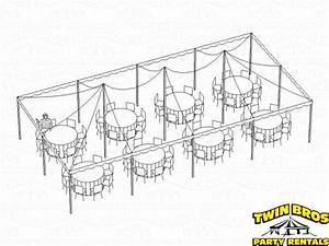 20x40 Pole Tent Layouts  Pictures  Diagrams  Rentals