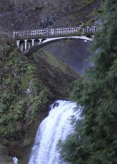 Falls Multnomah Gifs Landscape Vertical Artists