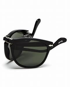 persol suprema folding polarized keyhole sunglasses in