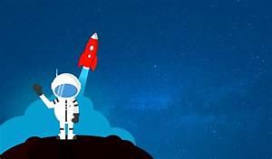 Cartoon Astronaut Waving Goodbye - With Copyspace - Free ...