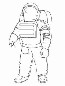 Astronaut Suit Outline - Pics about space