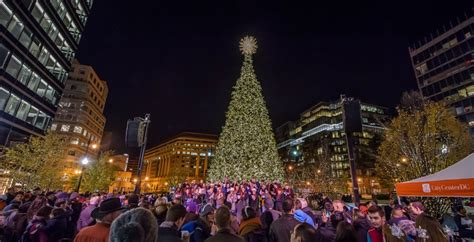 4th annual citycenterdc holiday tree lighting citycenterdc