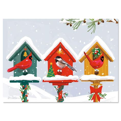 holiday birdhouse christmas cards current catalog
