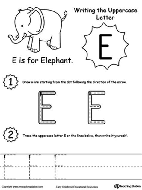 writing uppercase letter e myteachingstation 470 | writing Uppercase Letter E