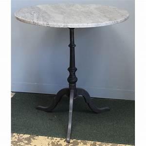 Table Ronde En Marbre : table de bistro ronde plateau en marbre moinat sa antiquit s d coration ~ Mglfilm.com Idées de Décoration
