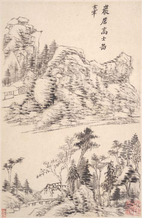 landscapes   masters dong qichang