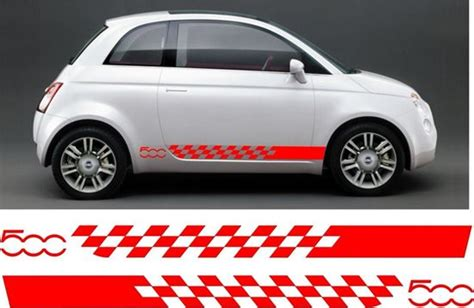 Fiat 500 Graphics by Zen Graphics Fiat 500 Side Stripes Graphics Stickers Decals