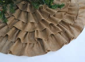 burlap ruffled christmas skirt christmas pinterest