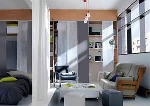 3 idees pour utiliser le panneau japonais travauxcom With comment meubler son salon 3 transformer un garage en petit studio