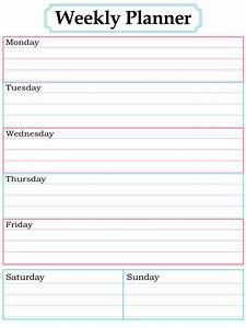 weekly assignment planner excel templates