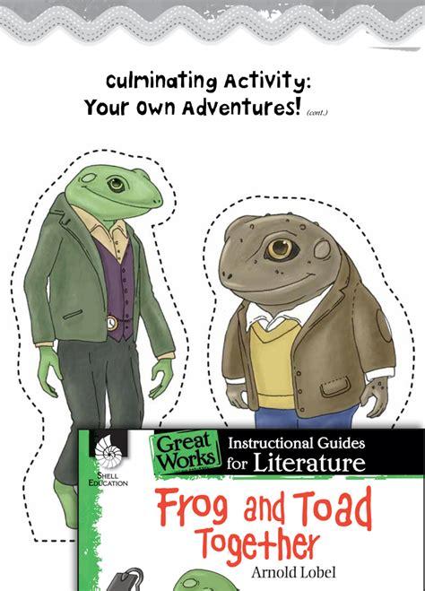 frog  toad  post reading activities teachers