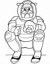 Catcher Baseball Coloring Pages Printable Dog Clipart Drawing Cliparts Print Printables Printactivities Picked Library Popular Getdrawings Clip sketch template