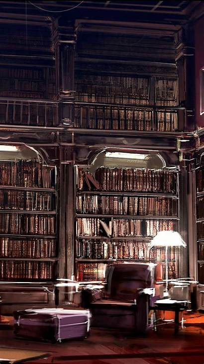 Library Iphone Books Wall Wallpapers 3wallpapers Plus
