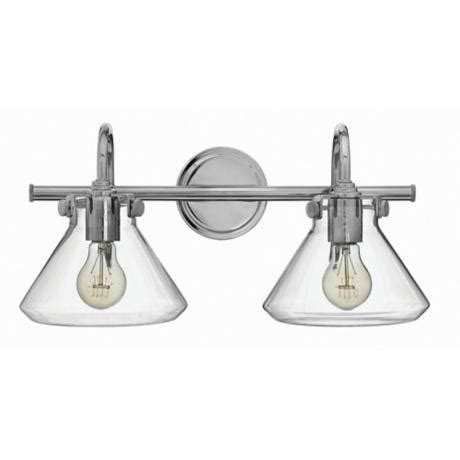 Hinkley Congress Lighting by Hinkley Congress 19 1 4 Quot W Clear Glass Chrome Bath Light
