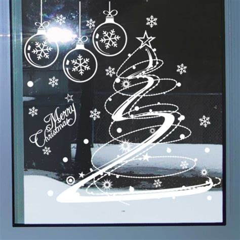 christmas tree holiday window wall sticker wall decals