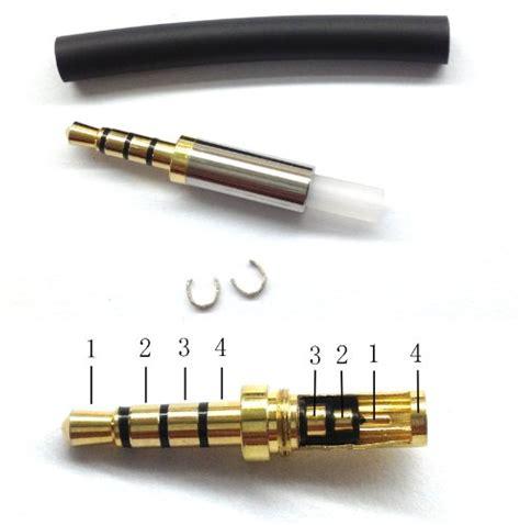 gold 4 pole 3 5mm repair headphone metal audio soldering buy in