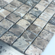 Stone Mosaic Tile Square Grey Patterns Bathroom Wall