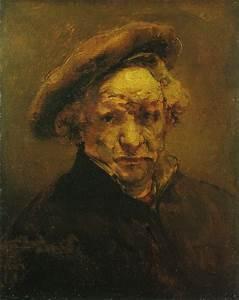 Rembrandt, Zelfportret met baret, ca. 1659, onvoltooid ...