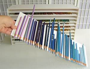 Pencil Storage Shelves Art Studio Ideas