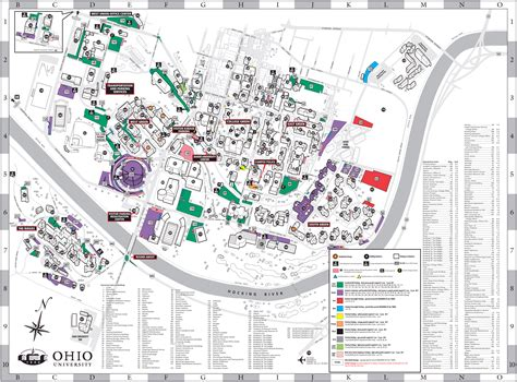 Ohio University Athens Campus Map and Tour