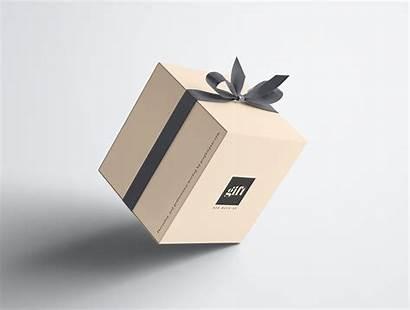 Box Gift Mockup Psd Behance Premium Graphic