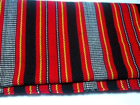 tribal filipino handwoven fabric handmade textile table