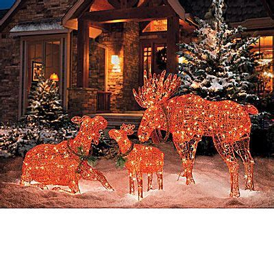 lighted moose christmas decorations christmas trees