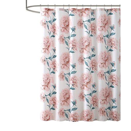Bold Shower Curtain by Bold Floral Print Fabric Shower Curtain White Pink And