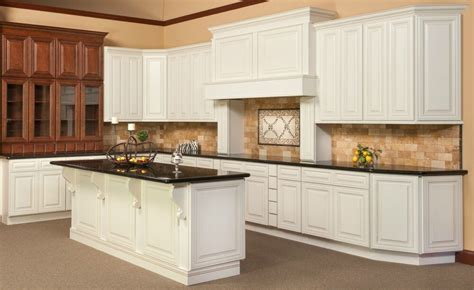 All Wood Cabinets by All Wood Kitchen Cabinets 10x10 Cambridge Antique White