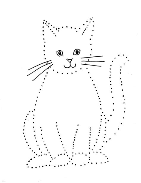 cat dot drawing art starts