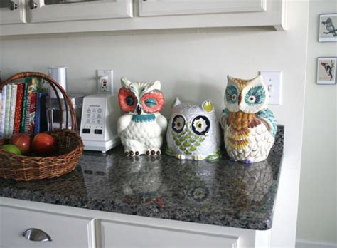 Owl Canisters For The Kitchen by Owl Kitchen Decor Search My Kitchen Owl
