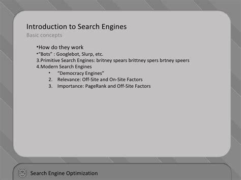Search Engine Optimization Basic