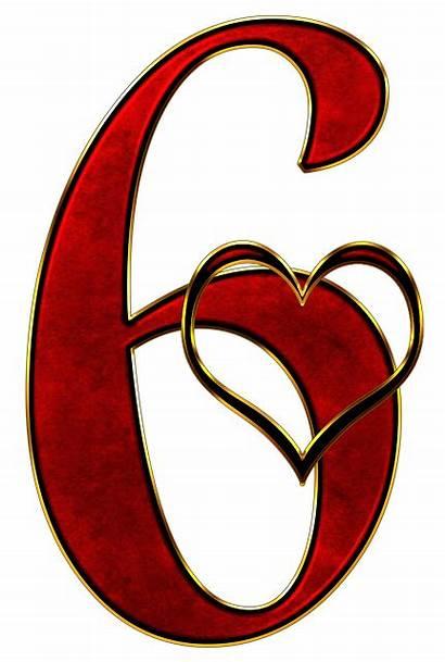 Number Numero Six Valentine Clip Enam Angka